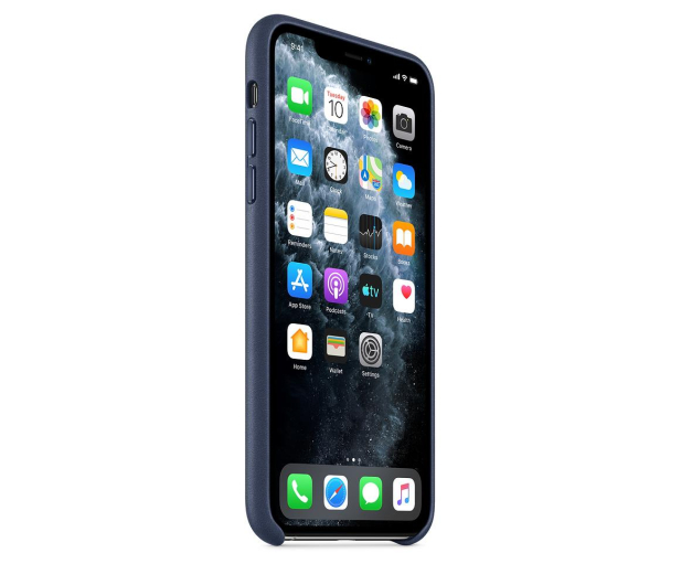 Apple Leather Case do iPhone 11 Pro Max Midnight Blue - 514622 - zdjęcie 2