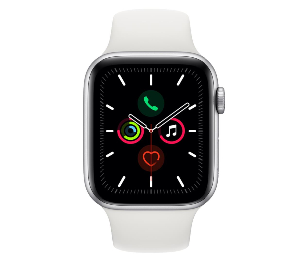 Apple Watch 5 44/Silver Aluminium/White Sport LTE - 515910 - zdjęcie 2