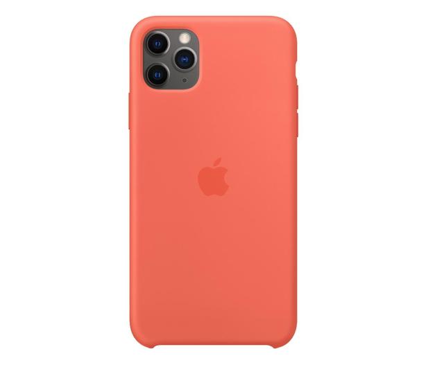 Apple Silicone Case do iPhone 11 Pro Max Orange - 514647 - zdjęcie