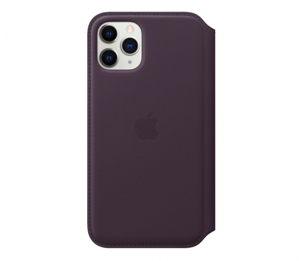 Apple Leather Folio do iPhone 11 Pro Aubergine - 514651 - zdjęcie