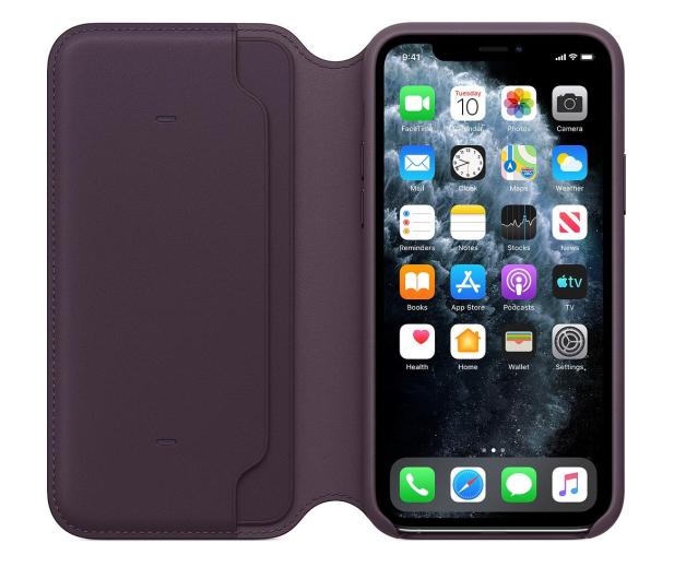 Apple Leather Folio do iPhone 11 Pro Aubergine - 514651 - zdjęcie 3