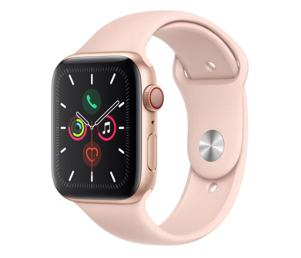 Apple Watch 5 44/Gold Aluminium/Pink Sport LTE - 515911 - zdjęcie