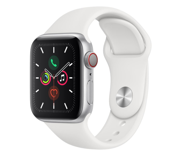 Apple Watch 5 40/Silver Aluminium/White Sport LTE - 515904 - zdjęcie