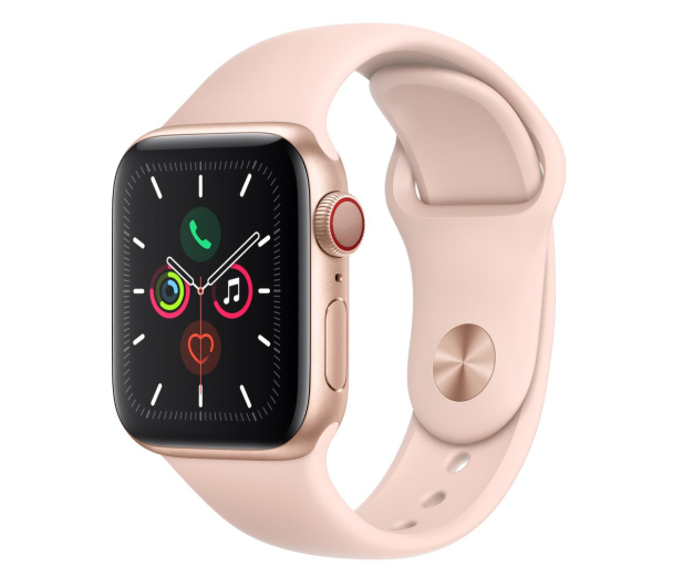 Apple Watch 5 40/Gold Aluminium/Pink Sport LTE - 515905 - zdjęcie