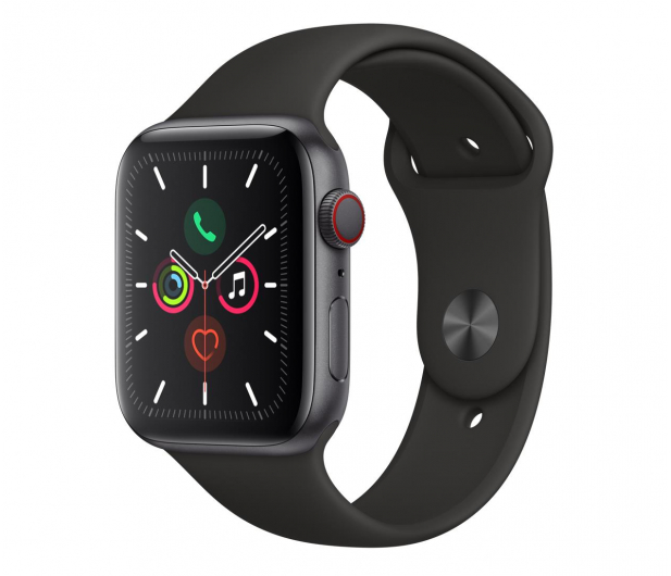 Apple Watch 5 44/Space Gray Aluminium/Black Sport LTE - 515912 - zdjęcie