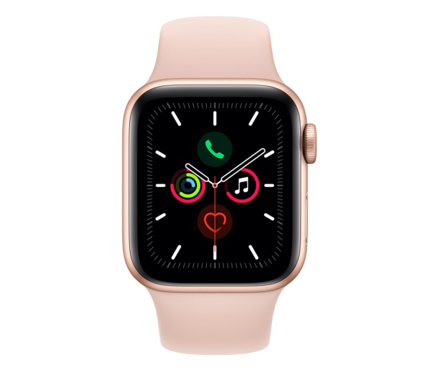 Apple Watch 5 40/Gold Aluminium/Pink Sport LTE - 515905 - zdjęcie 2