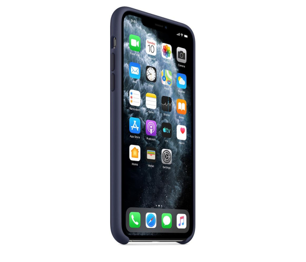 Apple Silicone Case do iPhone 11 Pro Max Midnight Blue - 514612 - zdjęcie 2