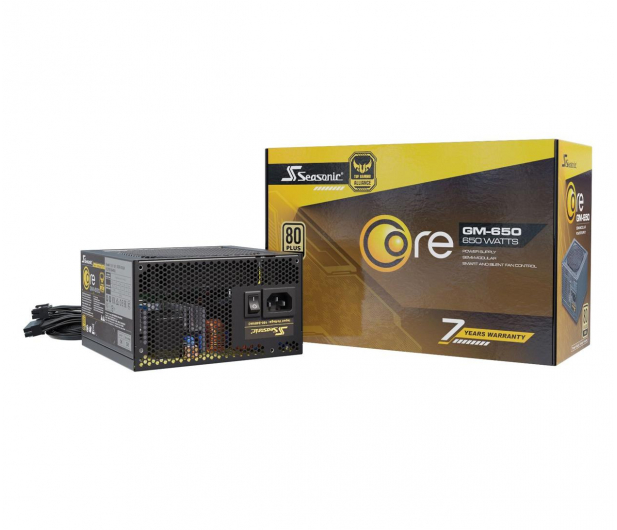 Seasonic Core GM 650W 80 Plus Gold - 514823 - zdjęcie
