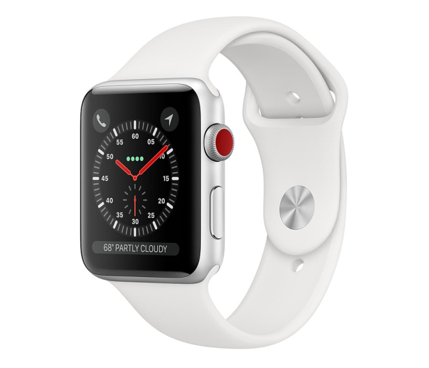Apple Watch 3 38/Silver/White Sport LTE - 516124 - zdjęcie