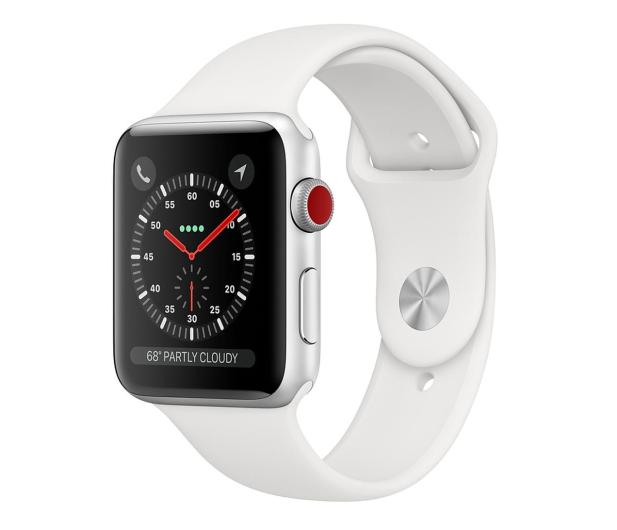 Apple Watch 3 42/Silver/White Sport LTE - 516127 - zdjęcie
