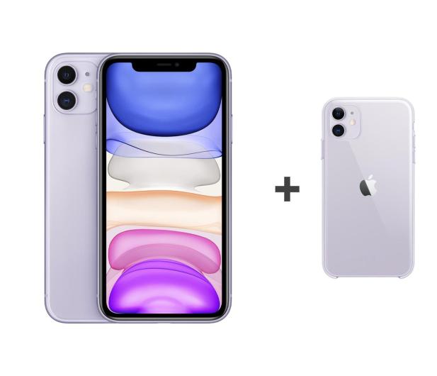 Apple iPhone 11 64GB Purple + Apple Clear Case , Smartfony i telefony ,  Sklep komputerowy , x,kom.pl