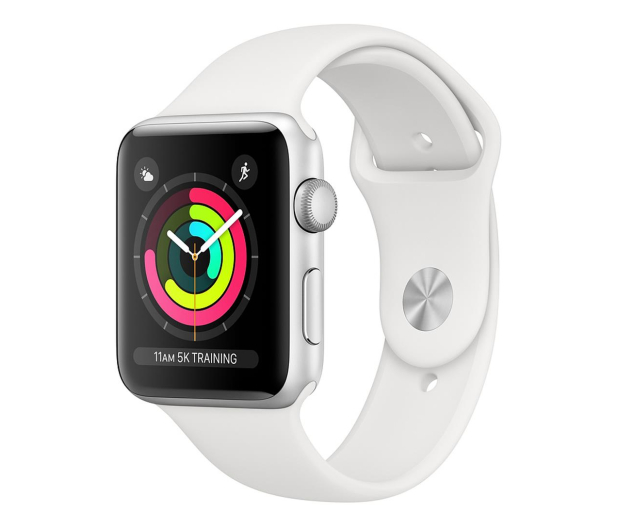 Apple Watch 3 38/Silver Aluminium/White GPS  - 467652 - zdjęcie