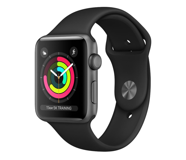 Apple Watch 3 38/Space Gray Aluminium/BlackSport GPS  - 464941 - zdjęcie