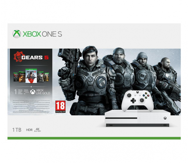 Microsoft Xbox One S 1TB + GoW 5 + FIFA 20 - 518524 - zdjęcie 8