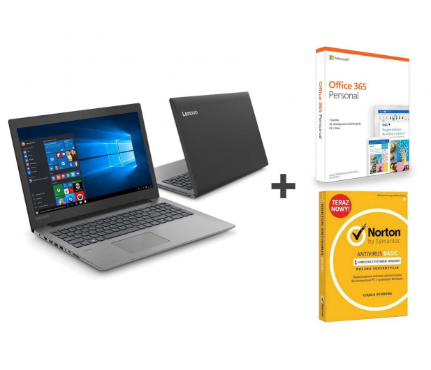Lenovo Ideapad 330-15 i3/8GB/240/Win10 + Office + Norton  - 495240 - zdjęcie