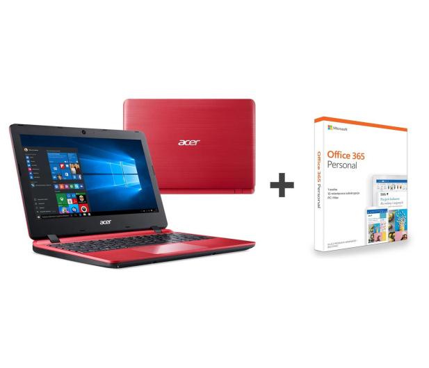 Acer Aspire 1 N4000/8GB/64GB/Win10 Czerwony - 495067 - zdjęcie