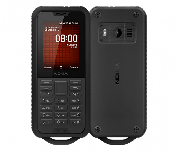 Nokia 800 Tough Dual SIM Czarny - 518661 - zdjęcie