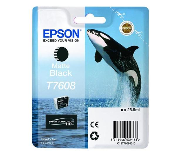 Epson T7608 matte black 25,9ml 1100str.  - 248069 - zdjęcie