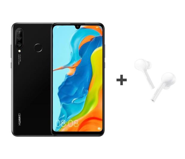 Huawei P30 Lite 128GB Czarny + FreeBuds Lite białe  - 513705 - zdjęcie