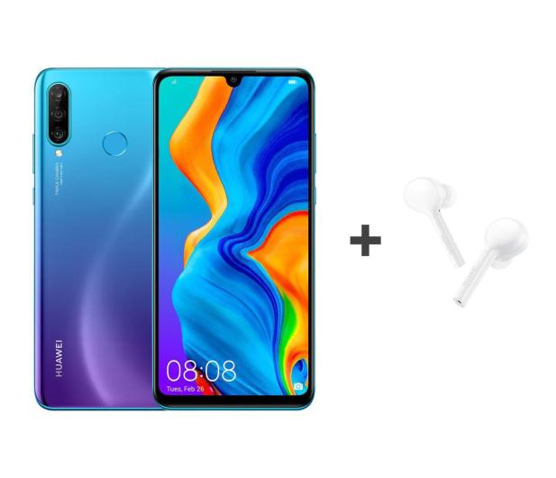 Huawei P30 Lite 128GB Niebieski + FreeBuds Lite białe  - 513706 - zdjęcie