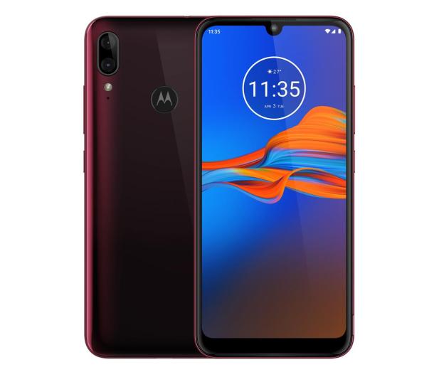 Motorola Moto E6 Plus 4/64GB Dual SIM bordowy + etui - 519486 - zdjęcie