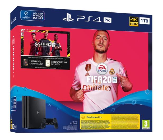Sony PlayStation 4 PRO 1TB + FIFA 20 - 513737 - zdjęcie