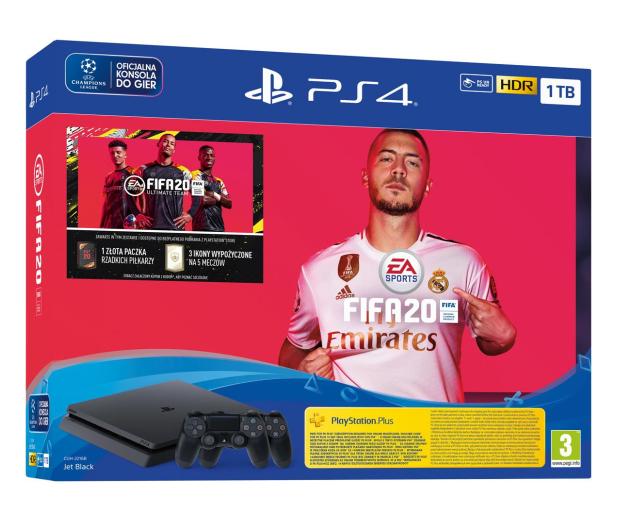 Sony PlayStation 4 Slim 1TB + FIFA 20 + Pad DS4 - 513739 - zdjęcie