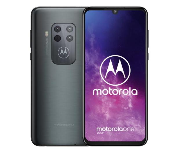 Motorola One Zoom 4/128GB Dual SIM Electric Gray + etui - 514287 - zdjęcie