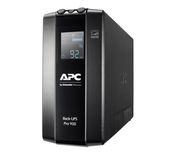 APC Back-UPS Pro (900VA/540W, 6xIEC, RJ-45, AVR, LCD) - 520167 - zdjęcie