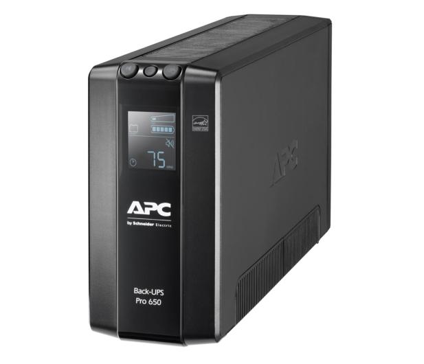 APC Back-UPS Pro (650VA/390W, 6xIEC, RJ-45, AVR, LCD) - 520166 - zdjęcie