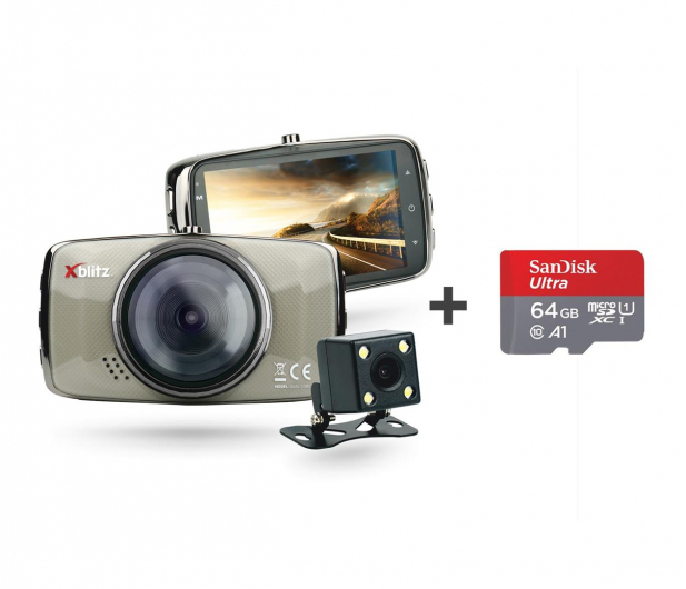 "Xblitz DUAL CORE Full HD/3""/170 +Tył 720P/120 + 64GB - 501851 - zdjęcie"