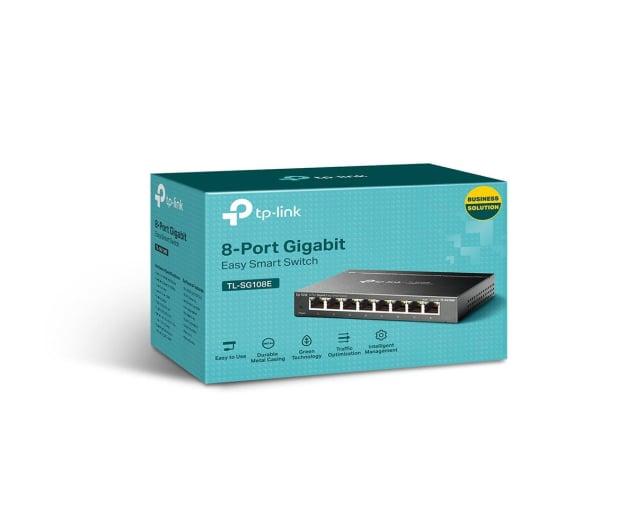 TP-Link 8p TL-SG108E (8x10/100/1000Mbit) - 222170 - zdjęcie 3