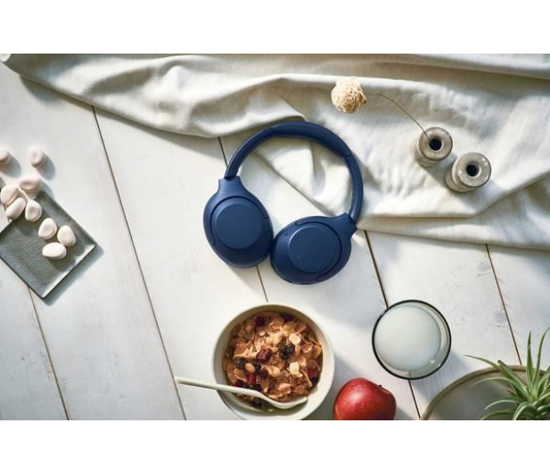 Sony WH-XB900N Niebieskie ANC - 540150 - zdjęcie 7