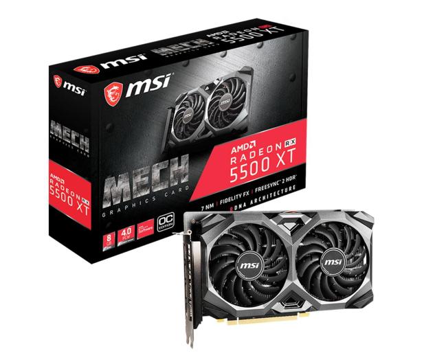 MSI Radeon RX 5500 XT MECH OC 8GB GDDR6 - 540910 - zdjęcie