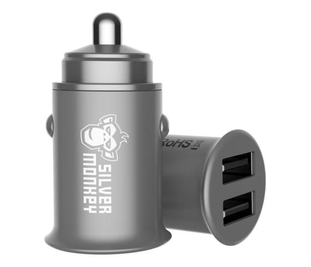 Silver Monkey Ładowarka samochodowa 2x USB, 24W - 536250 - zdjęcie