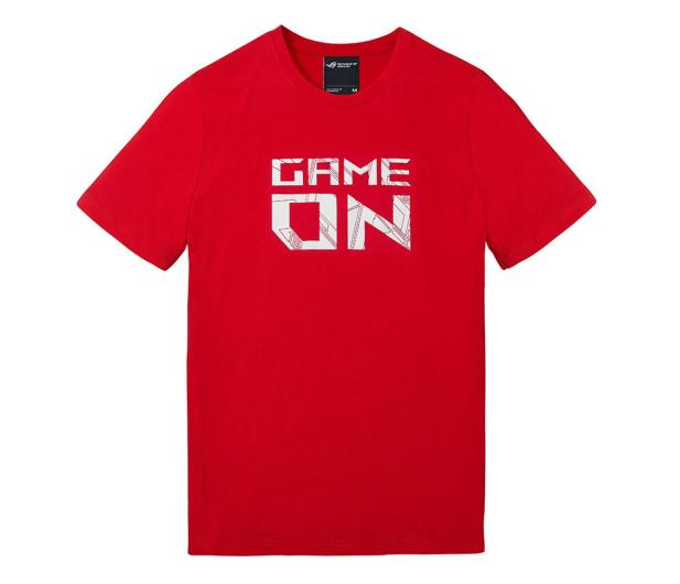 ASUS T-Shirt RED GAME ON (czerwony, L) - 469091 - zdjęcie