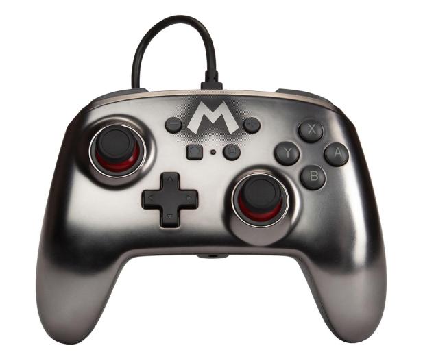 PowerA SWITCH Pad przewodowy Super Mario Silver - 597186 - zdjęcie