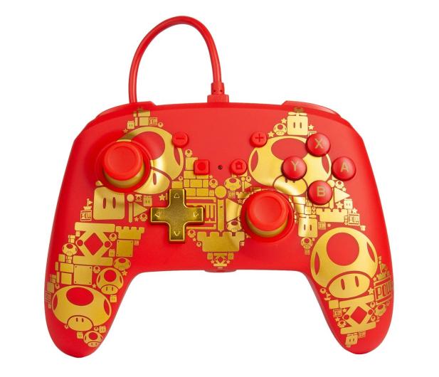 PowerA SWITCH Pad przewodowy Super Mario Golden M - 597184 - zdjęcie