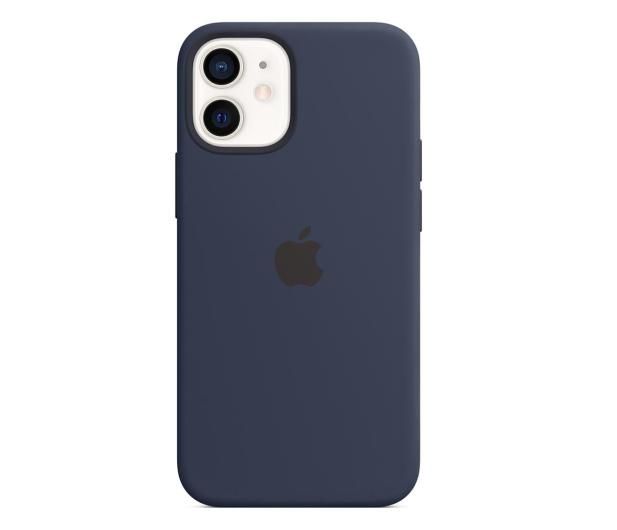 Apple Silikonowe etui iPhone 12 mini głęboki granat - 598763 - zdjęcie
