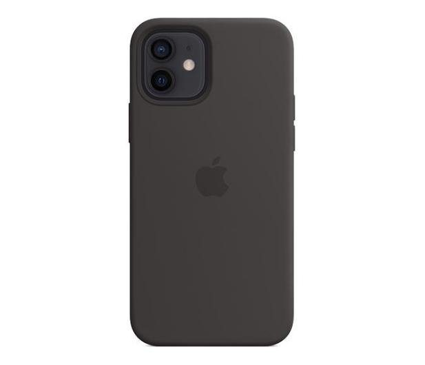 Apple Silikonowe etui iPhone 12 12Pro czarne - 598777 - zdjęcie 2