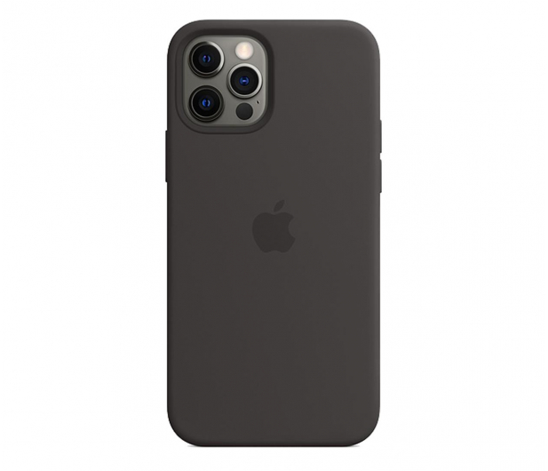 Apple Silikonowe etui iPhone 12 12Pro czarne - 598777 - zdjęcie