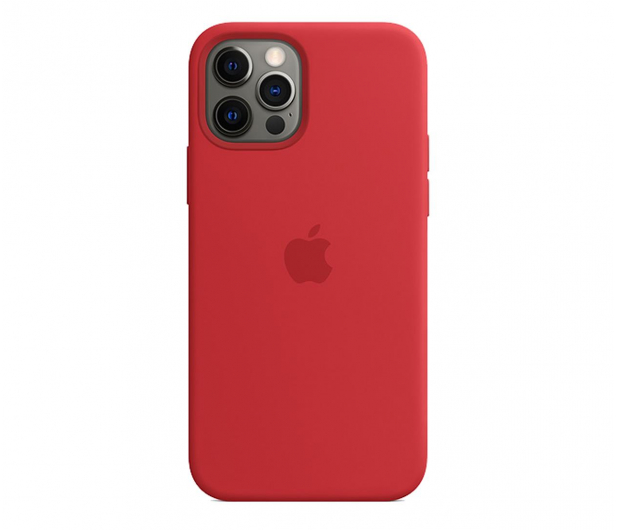 Apple Silikonowe etui iPhone 12 12Pro (PRODUCT)RED - 598778 - zdjęcie