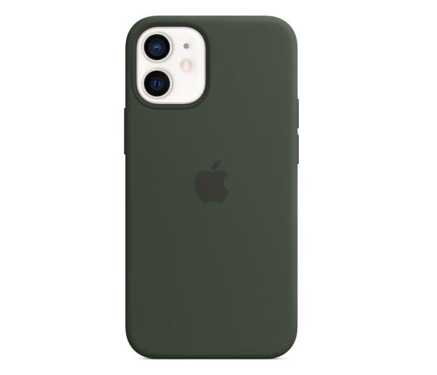 Apple Silikonowe etui iPhone 12 mini cypryjska zieleń - 598765 - zdjęcie