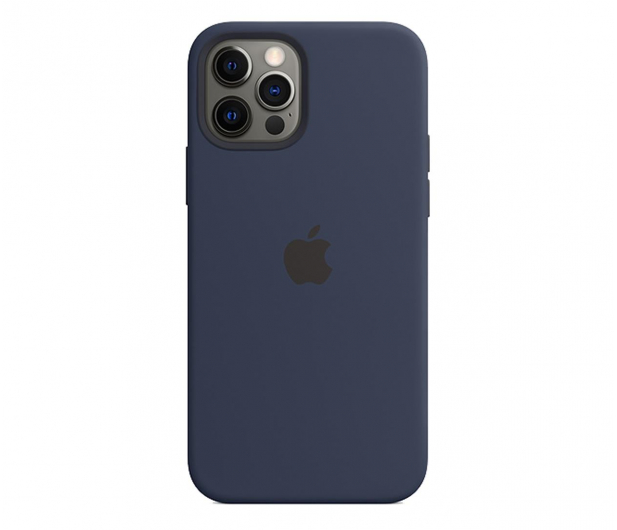 Apple Silikonowe etui iPhone 12|12Pro głęboki granat - 598772 - zdjęcie