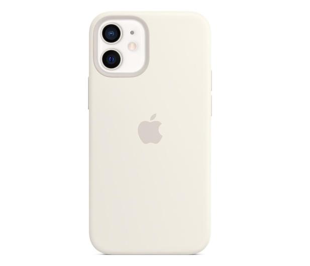 Apple Silikonowe etui iPhone 12 mini białe - 598767 - zdjęcie
