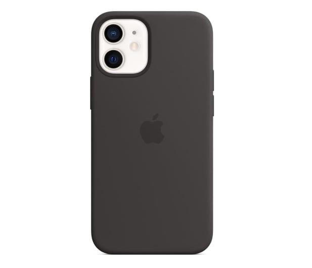 Apple Silikonowe etui iPhone 12 mini czarne - 598768 - zdjęcie