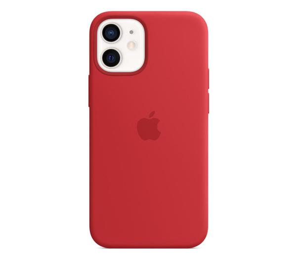 Apple Silikonowe etui iPhone 12 mini (PRODUCT)RED - 598769 - zdjęcie