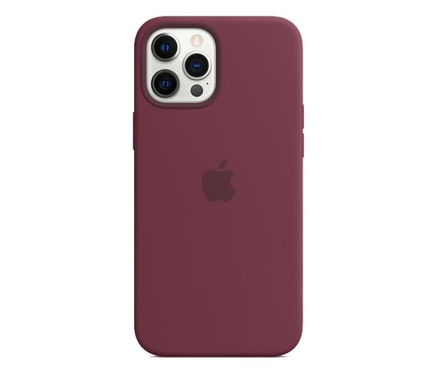 Apple Silikonowe etui iPhone 12 Pro Max dojrzała śliwka - 598779 - zdjęcie