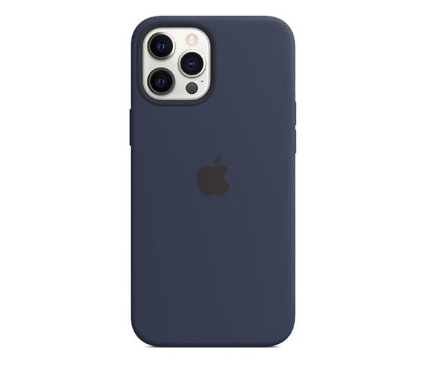Apple Silikonowe etui iPhone 12 Pro Max głęboki granat - 598780 - zdjęcie