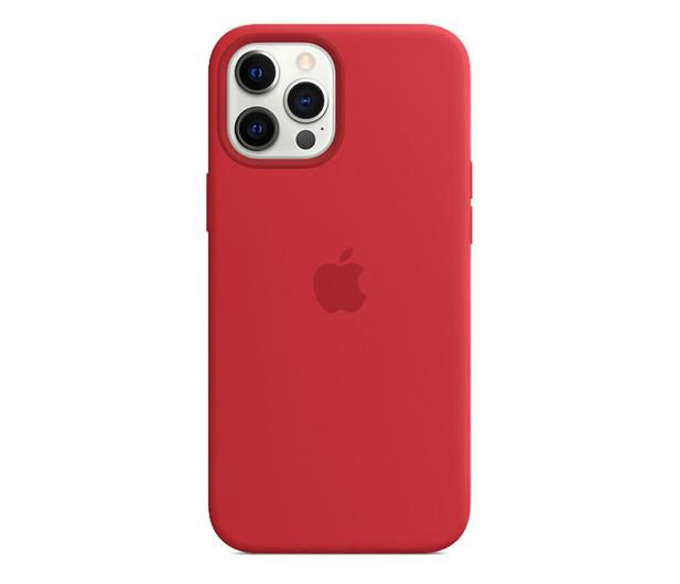 Apple Silikonowe etui iPhone 12 Pro Max (PRODUCT)RED - 598786 - zdjęcie